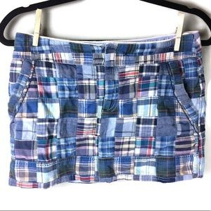 American Eagle Patchwork Madras Mini Skirt Size 2